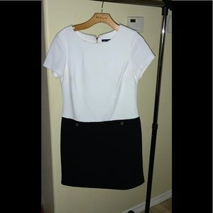 Black and White business dress.